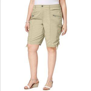 Style & Co tan bermuda cargo shorts